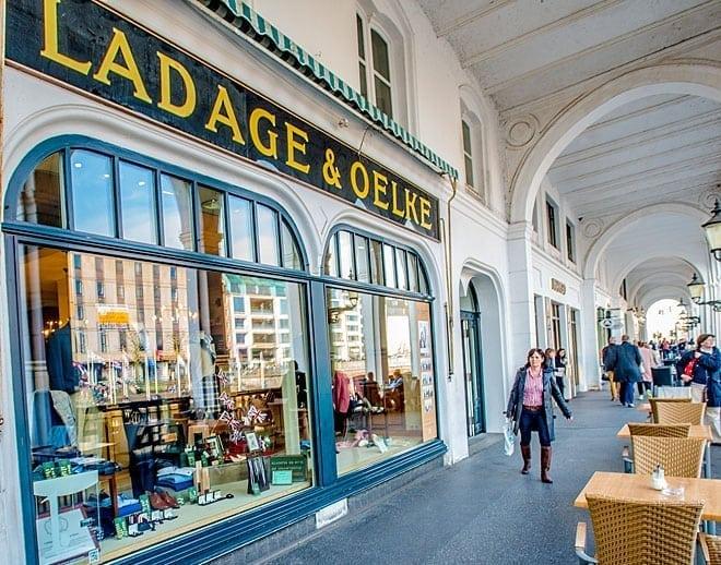 Ladage & Oelke, Alsterarkaden, Arkaden, Rathaus, Jungsfernstieg