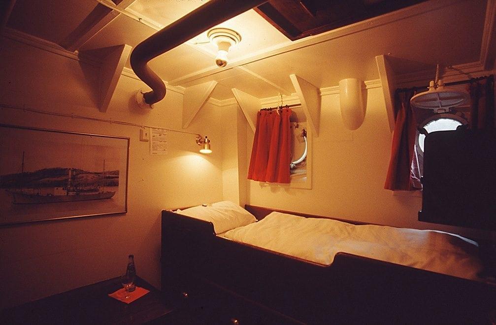Das Feuerschiff: eine der Kabinen, in denen man übernachten kann