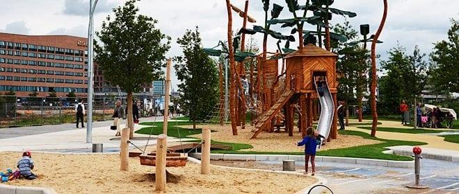 Der Spielplatz in der Hafencity