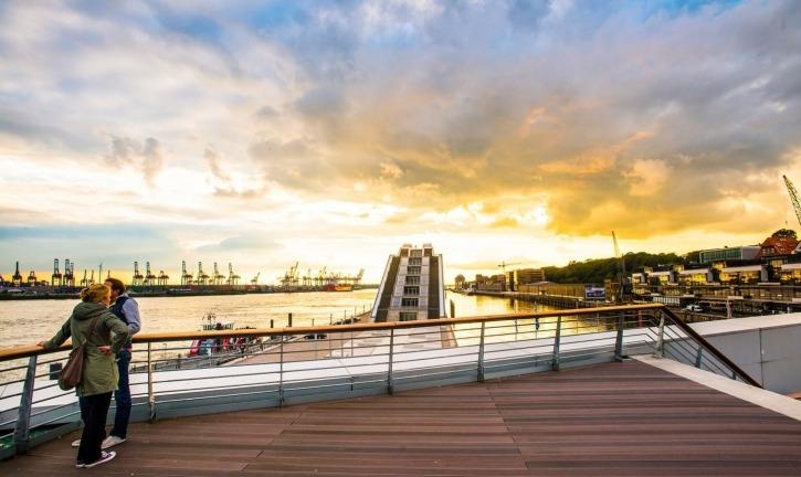 Fahrradtour, Elbe, Dockland