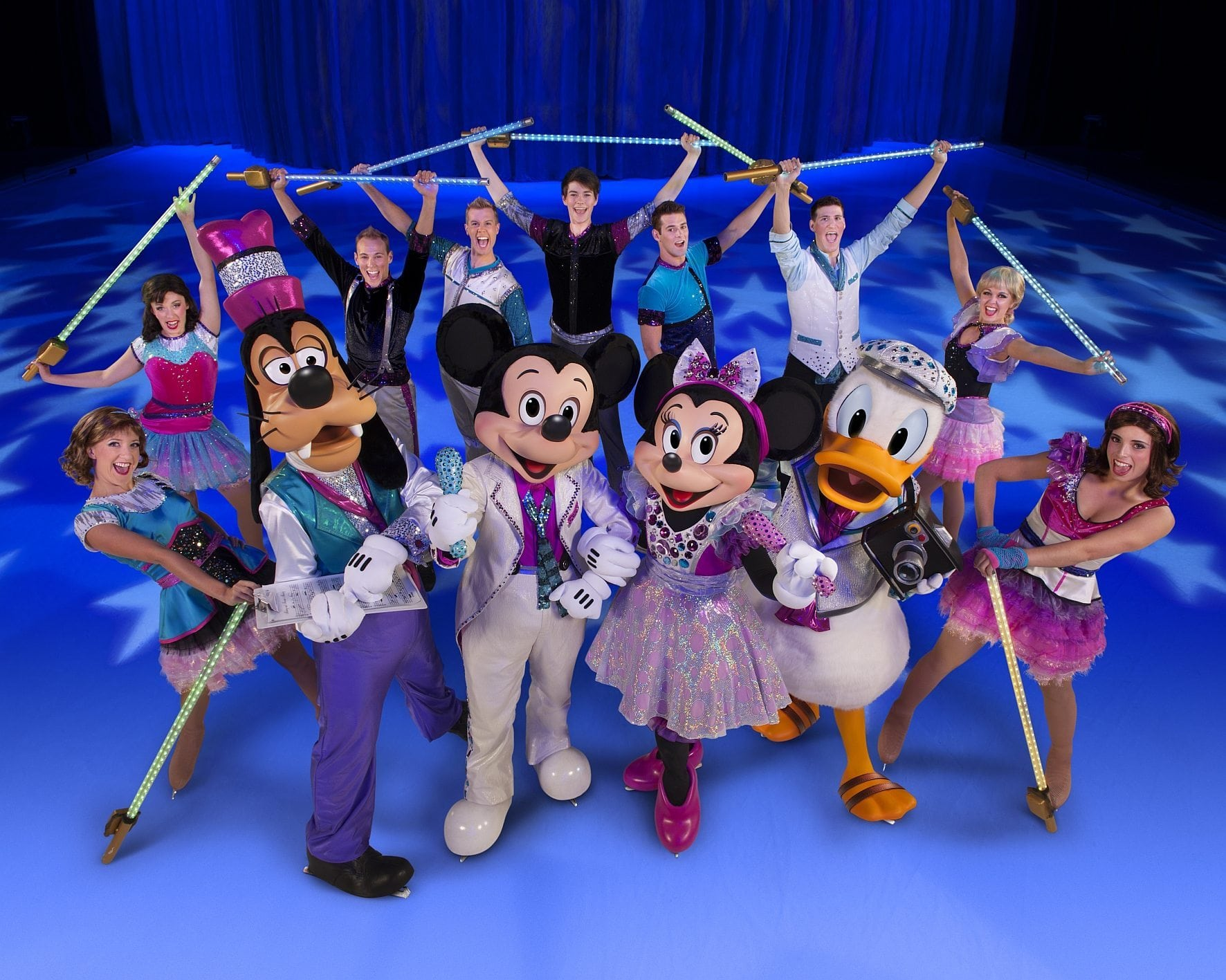 Disney Approved; Donald Duck; Fabs; Goofy; Mickey Mouse; Minnie Mouse; PR Setup; Rockstars