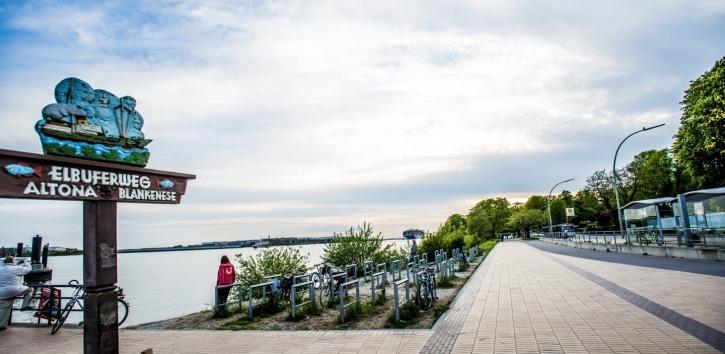 Fahrradtour, Elbe, Blankenese,