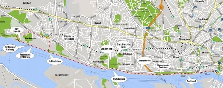 Fahrradtour, Elbe, Blankenese