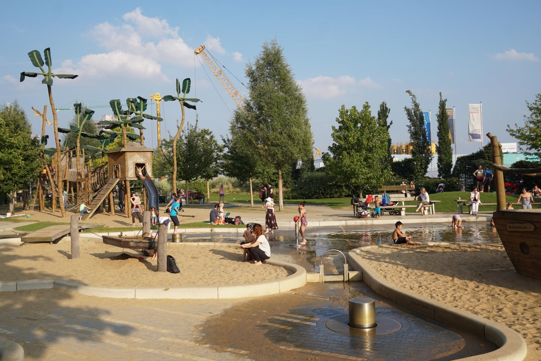 Sommerferien, Hamburg für Familien, Piratenspielplatz, Großer Grasbrook, Grasbrookpark, HafenCity