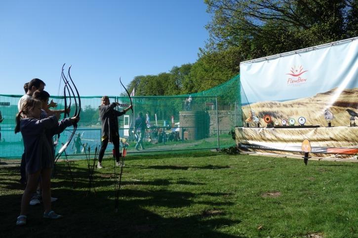 Bogenschießen auf dem Nordic Arts Festival