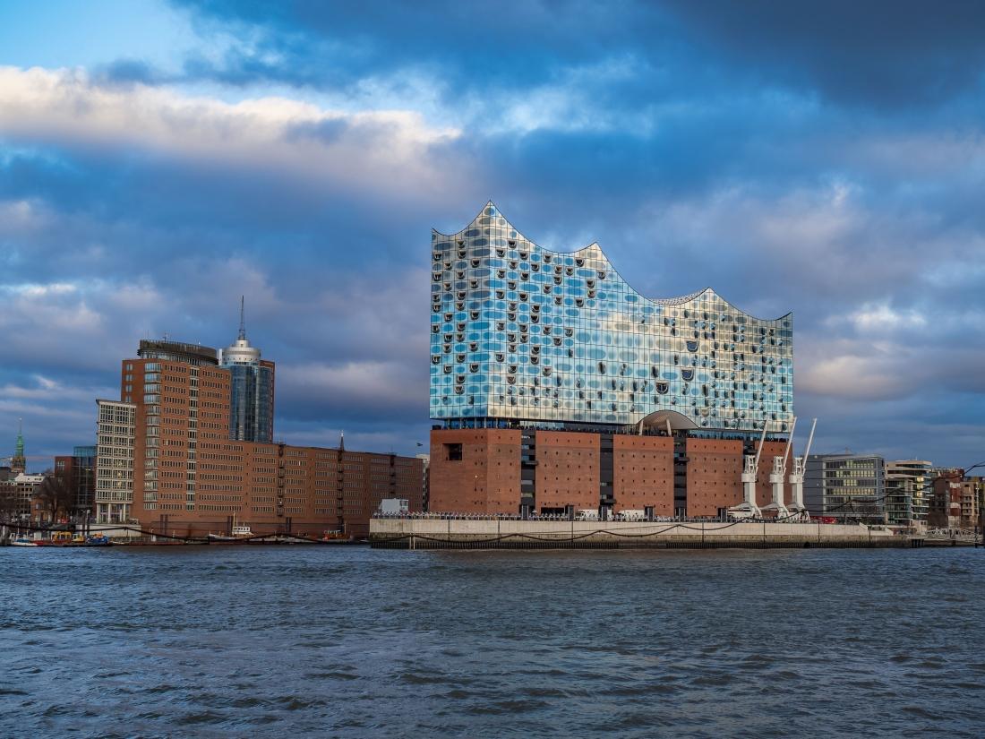 Die Elbphilharmonie: Blick auf das Konzerthaus