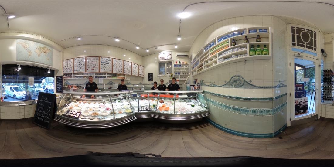 Freitags ist Fisch-Tag: Blick auf den Laden