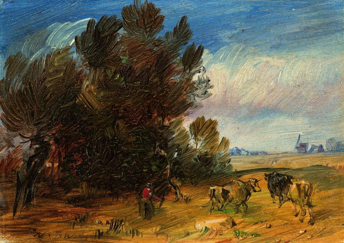 Busch kann auch anders: Gemälde Herbstliche Waldlandschaft
