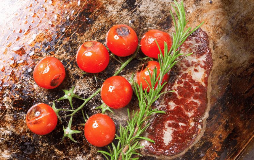 Burger Fährhaus: Steak und Grilltomate