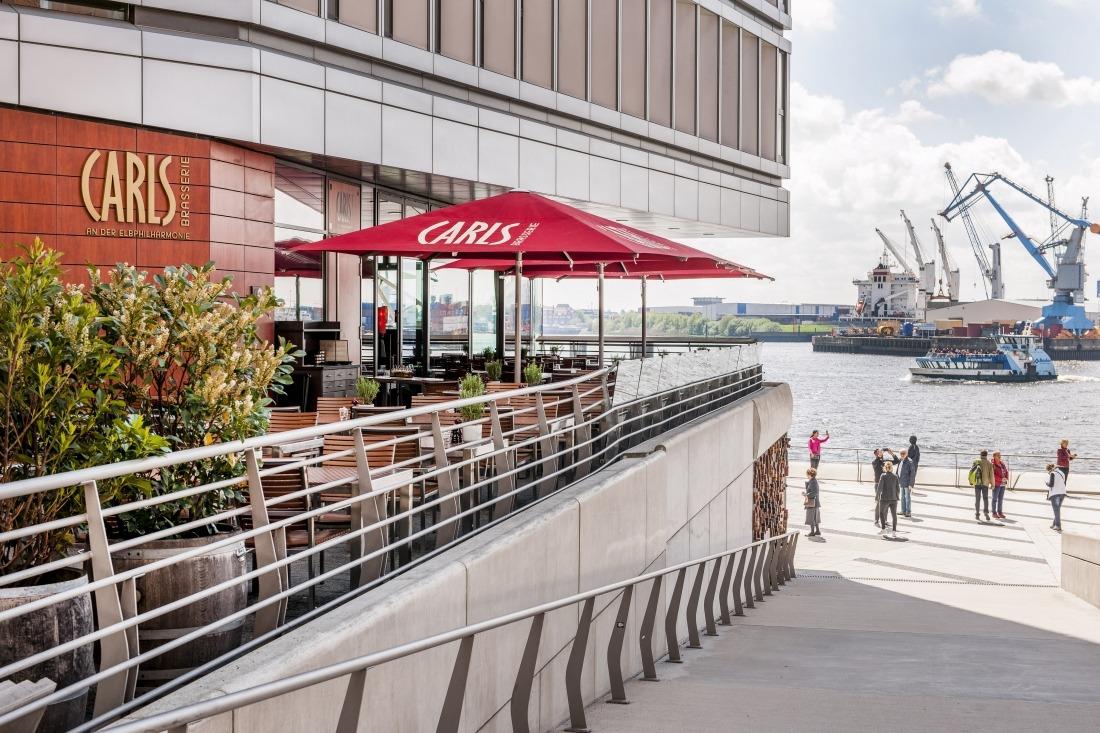 Sommer in der Stadt: Terrasse vom Carls