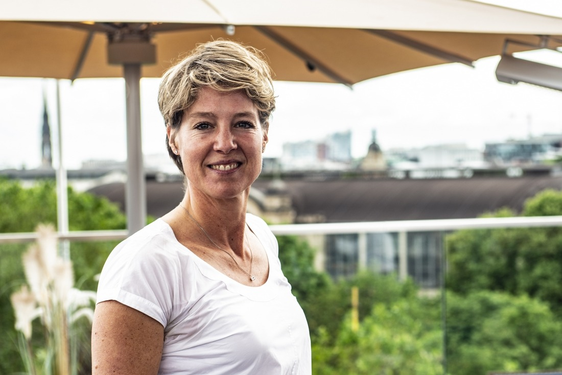 Christina Block: auf der Dachterrasse