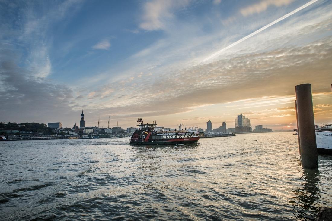 Auskenner: Blick auf die Elbe