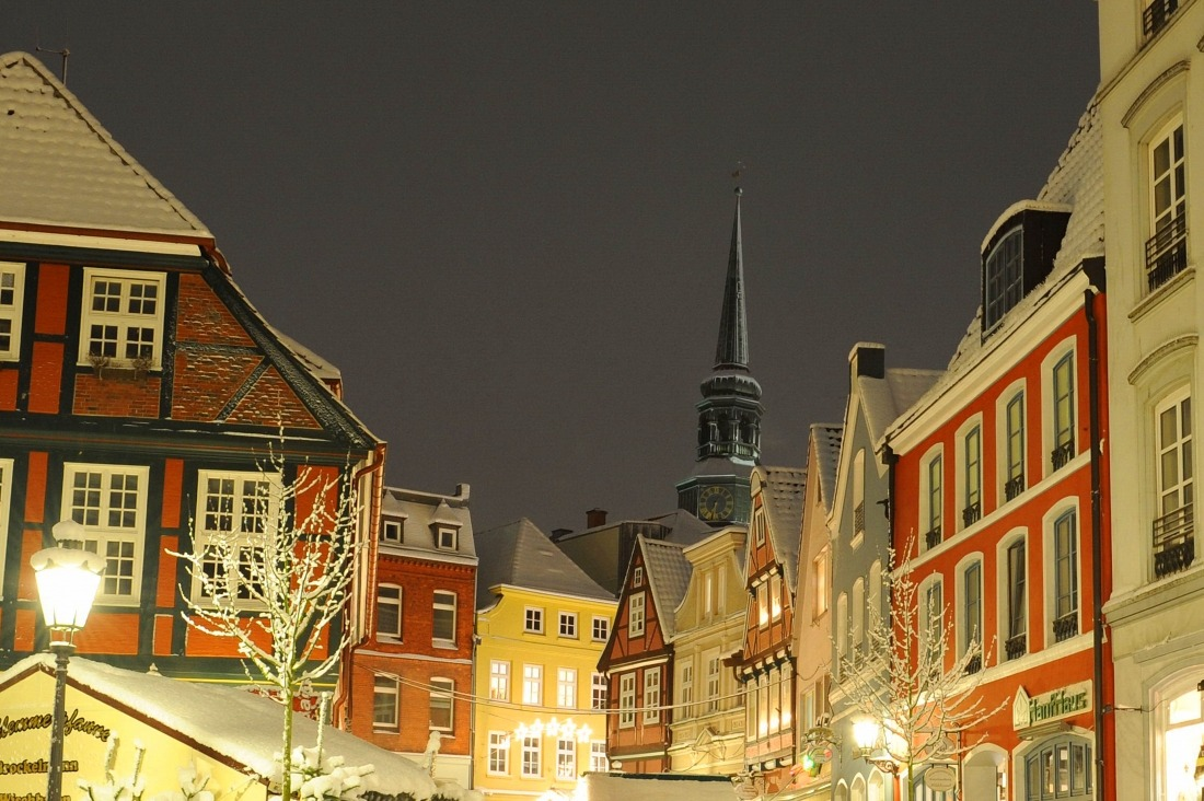 Nordlicht in Stade: die Altstadt