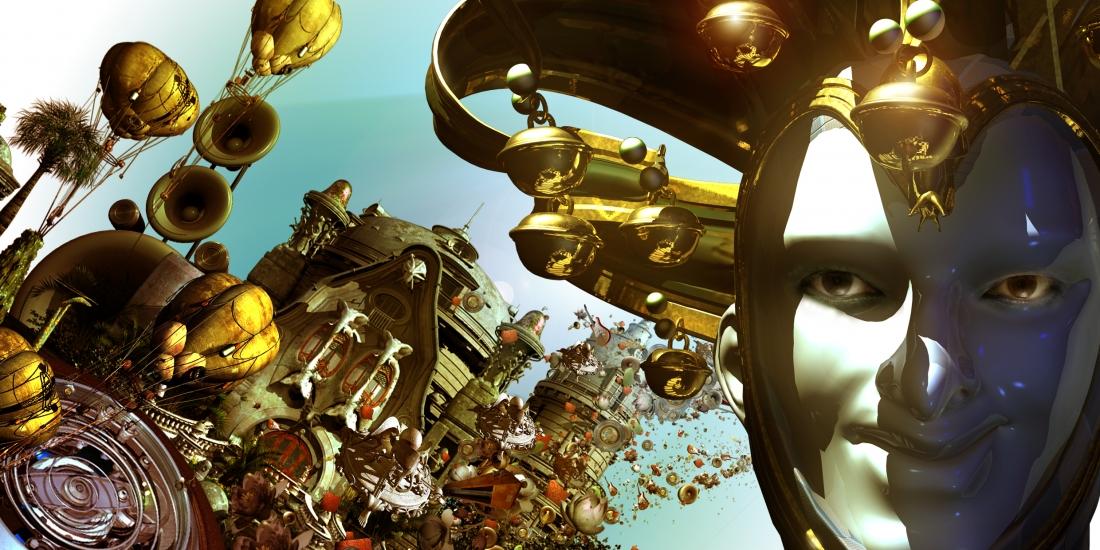 Premiere im Planetarium: Foto der Aufführung Voices in the Dark