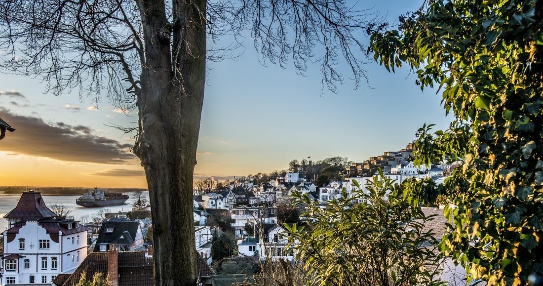 Unterwegs in Blankenese: Blick aufs Viertel