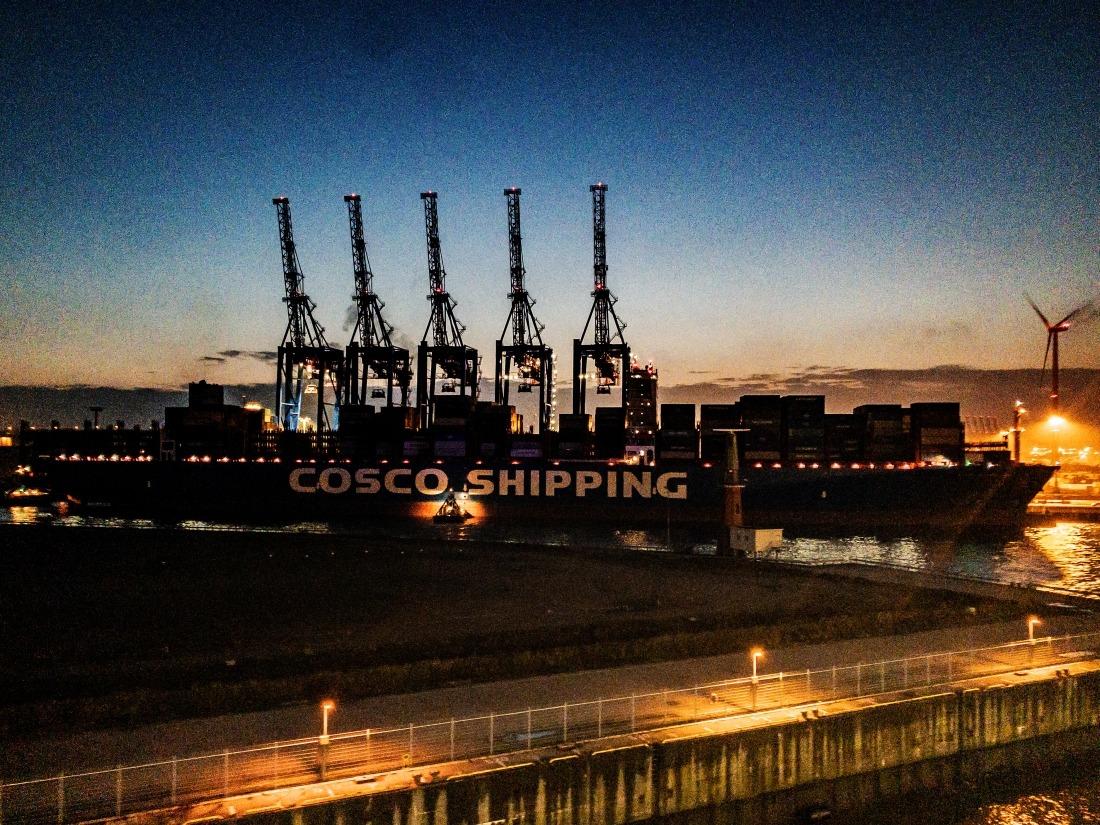 Hamburg: Hafenkräne