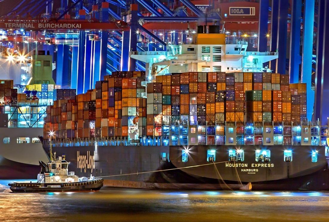 Hamburg: Containerschiff