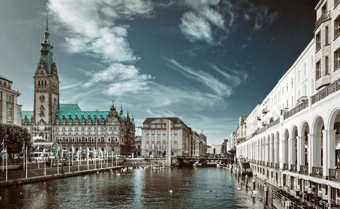 Hamburg: Alsterarkaden