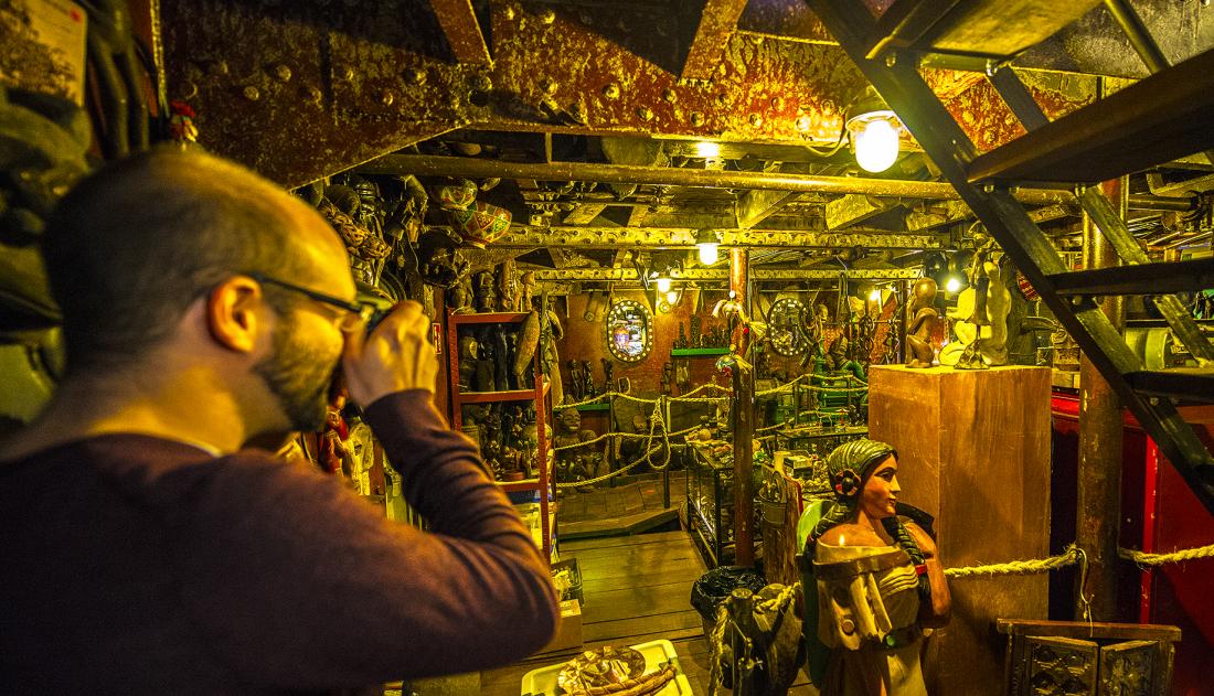 Harrys Hafenbsasar: Blick ins Museum