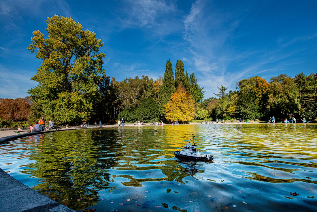 Der See im Stadtpark