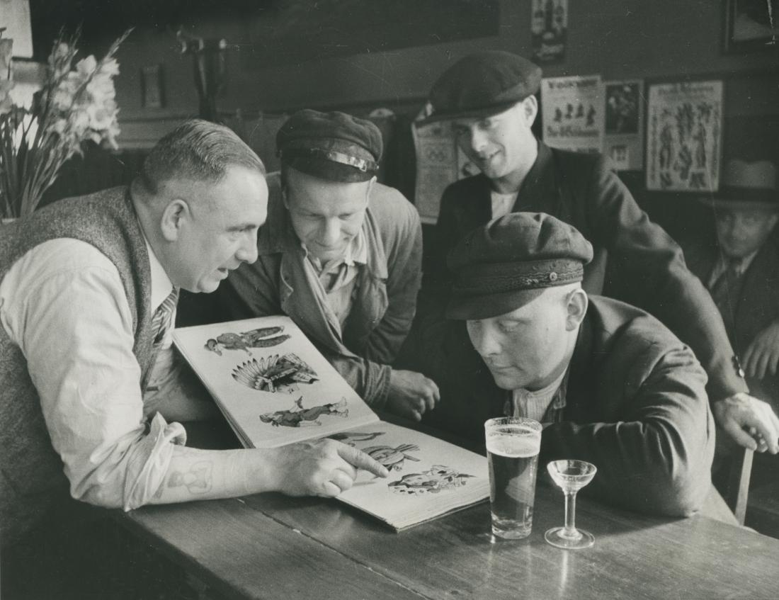 Tattoo-Hauptstadt: Historisches Foto von Tätowierer Christian Warlich