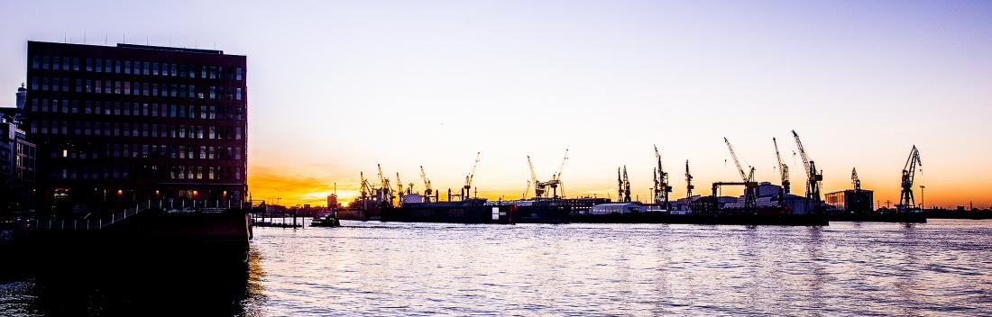 Das schönste Panorama überhaupt: der Blick auf den Hamburger Hafen