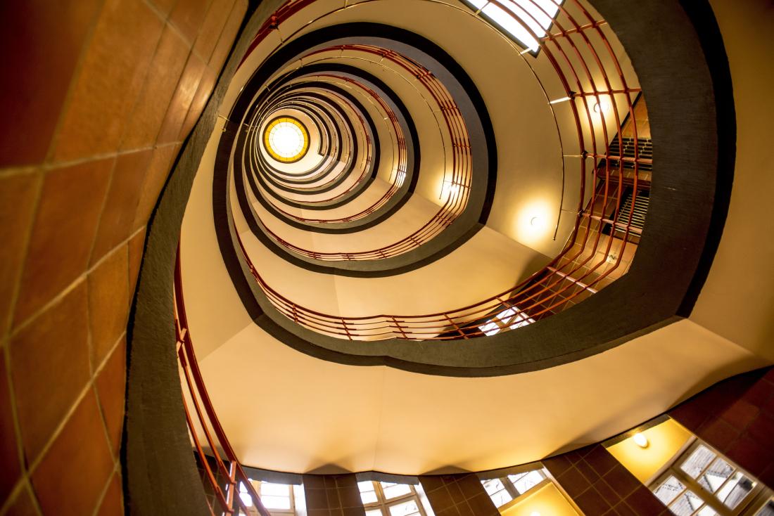 Klassiker Weltkulturerbe: Treppenhaus im Sprinkenhof