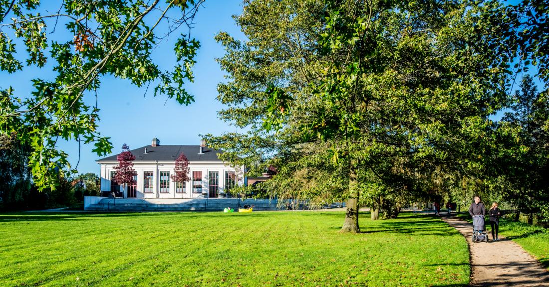 Parks in Hamburg: Inselpark mit altem Wasserwerk