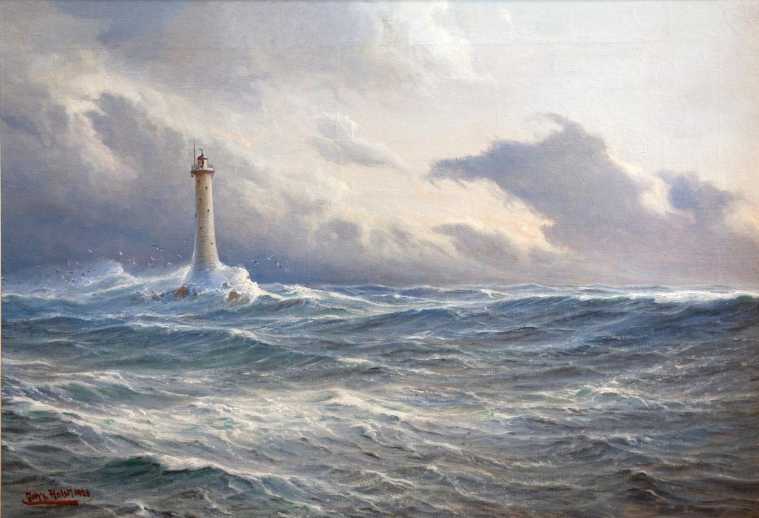 Meer-Bilder: Gemälde eines Leuchtturms