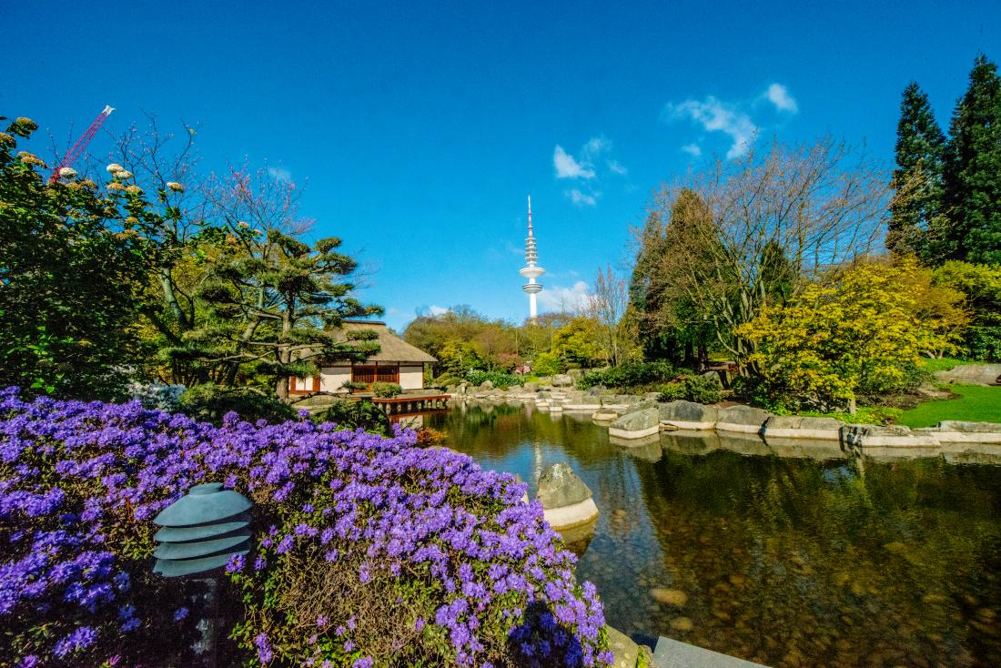 Parks in Hamburg: japanischer Garten in Planten un Blomen