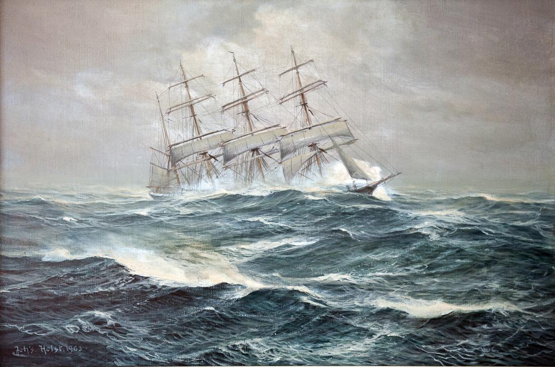 Meer-Bilder: Viermastbark von Johannes Holst