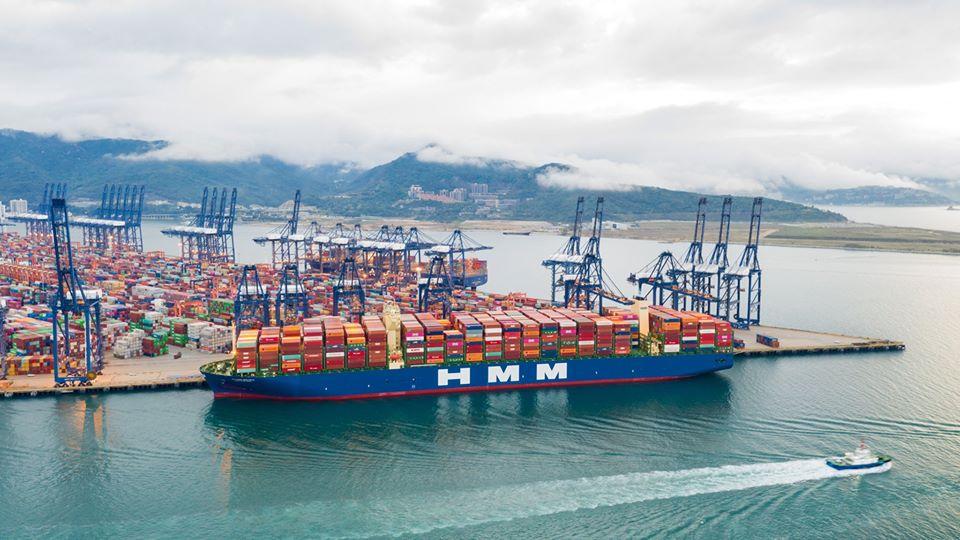 Schffe gucken: der Container-Riese HMM Algericas