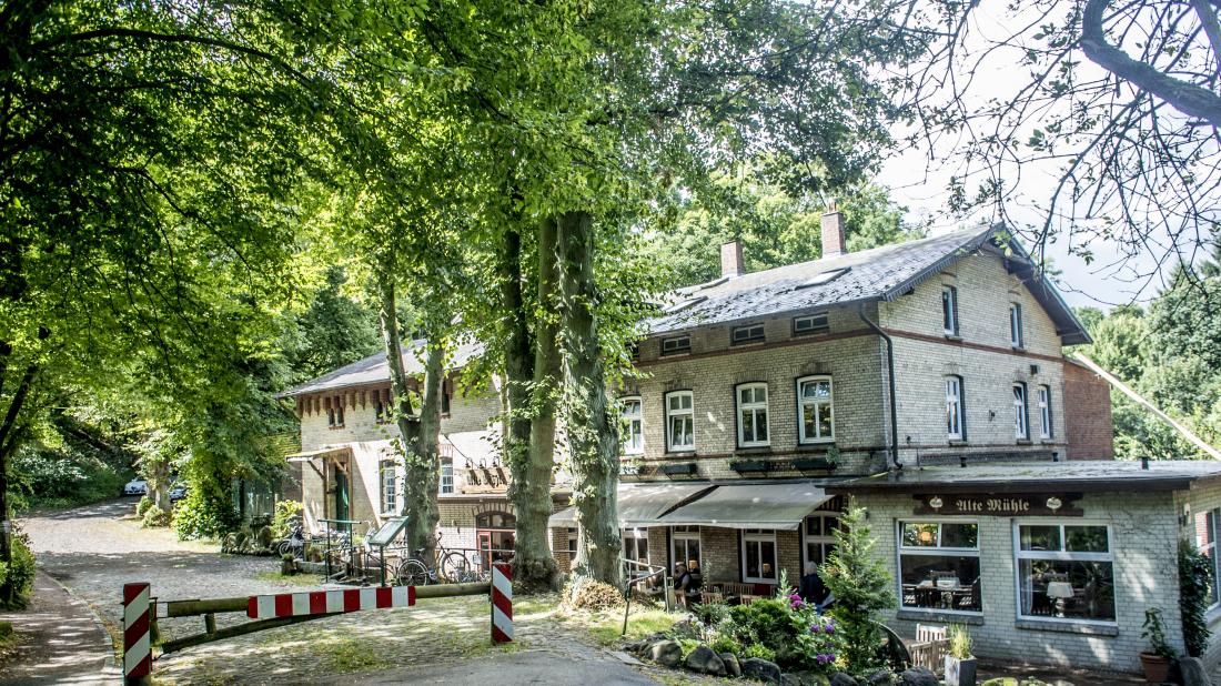 Blick auf das Restaurant Alte Mühle