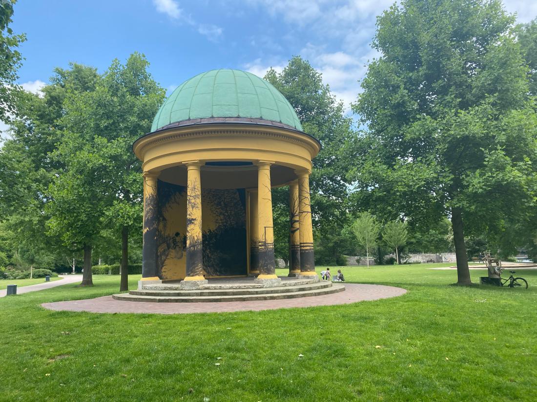 Frische Luft: Pavillon im Heyns Park