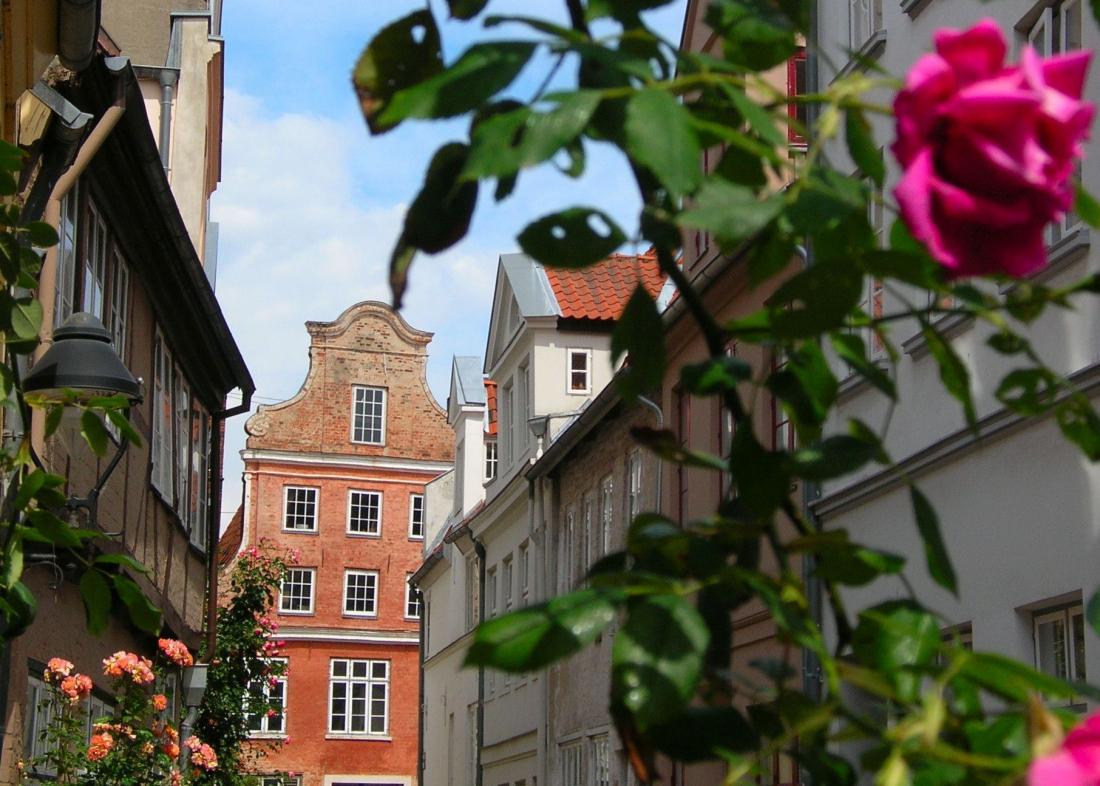 Lübeck: Blick in die Altstadt