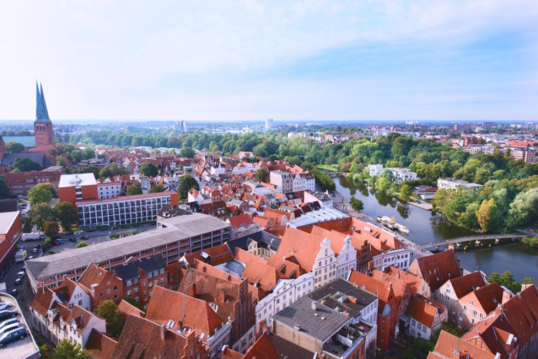 Lübeck: Blick von der Kirche St. Petri
