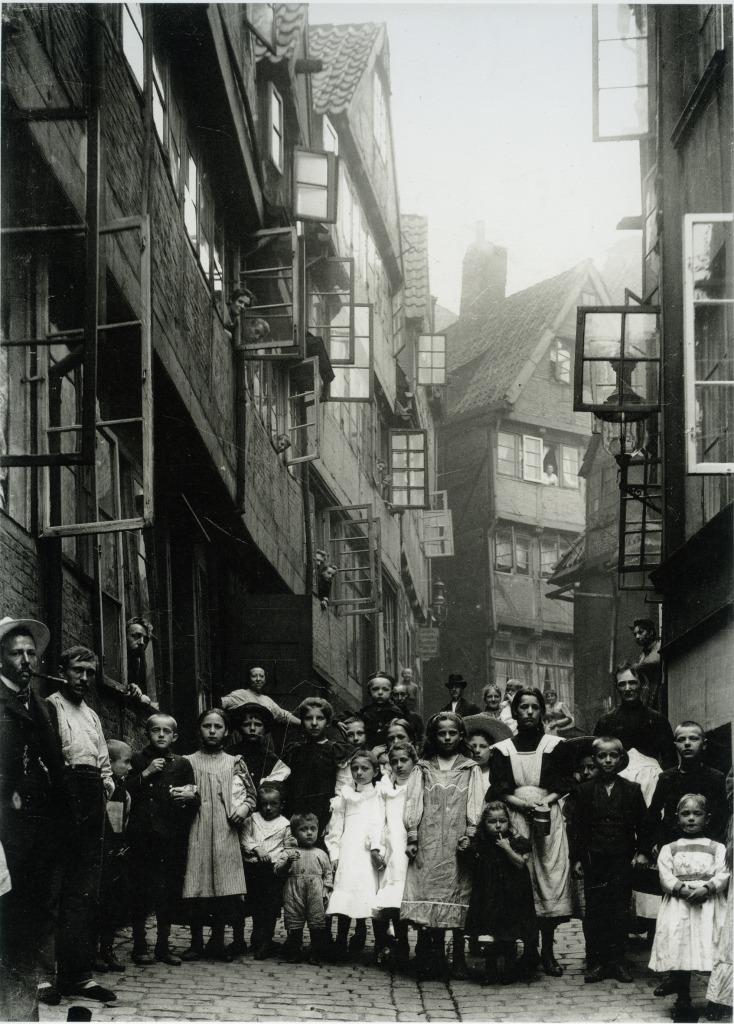 Hamburg History: historisches Foto des Gängeviertels