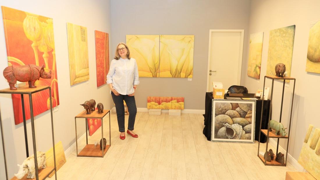 Angelika Rinck: Blick auf ihre Ausstellung