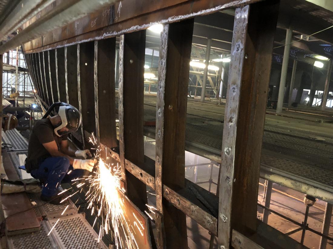 Restaurierung auf der Werft in Wewelsfleth