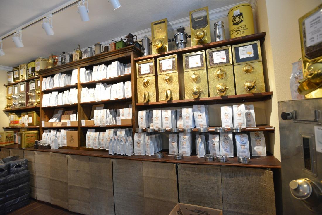 Das Coffeum in der Rösterei