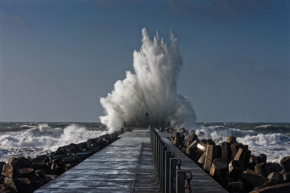 Nordsee im Herbst: Wellengang