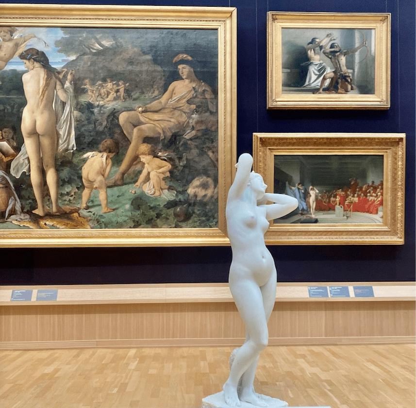 Kunst, wohin das Auge schaut; die Hamburger Kunsthalle