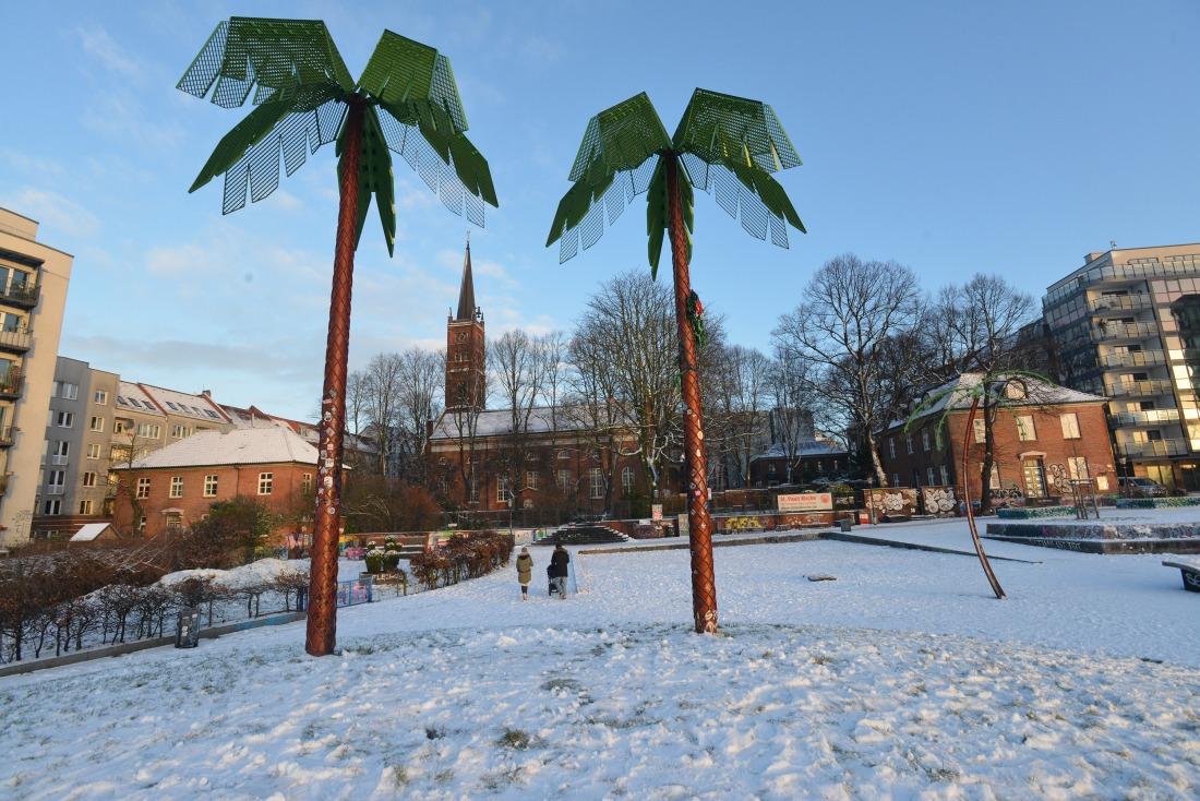 Winter: Park Fiction im Schnee