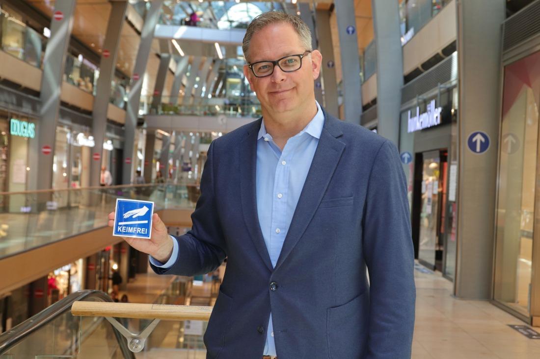 Sicher shoppen: Center Manager Jörg Harengerd
