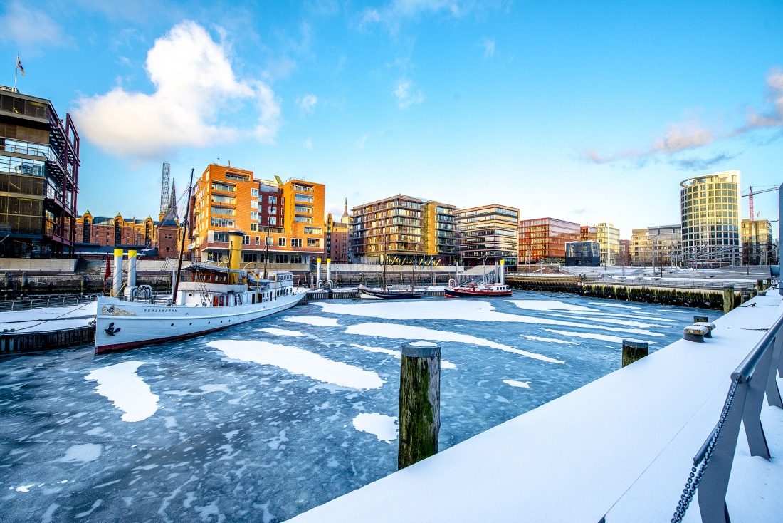 Winter: die HafenCity