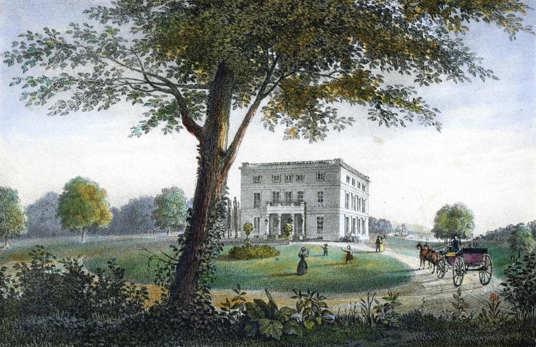 Das Jenischhaus auf einem Gemälde