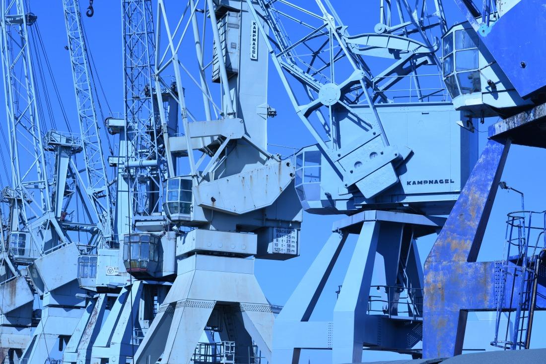 Hafenmuseum: Portalkräne